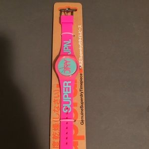 Superdry silicone retro watch